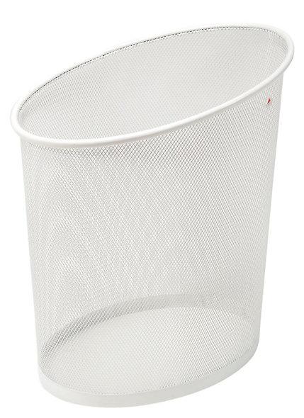 Corbeille à papier en métal mesh blanc