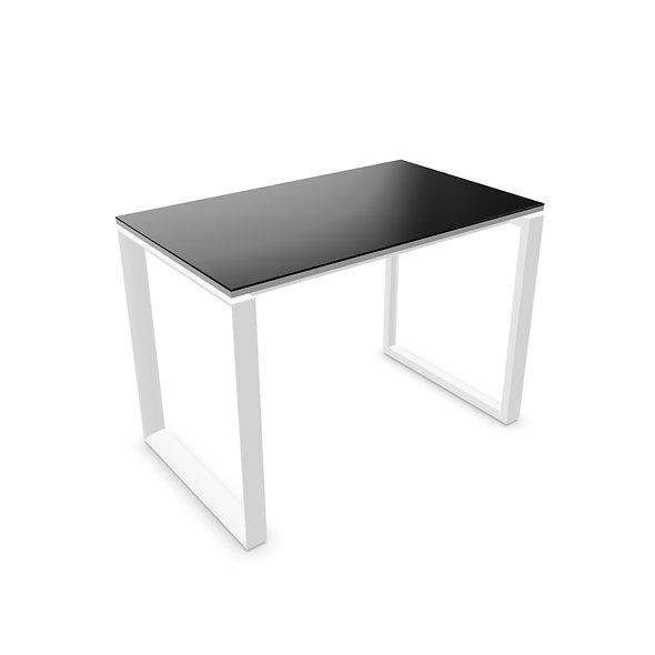 Table de bureau - Plan droit WEST P. 60 cm - Piétement Blanc