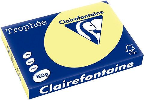 Paquet 250 feuilles papier 160g A3 jonquille TROPHEE CLAIREFONTAINE