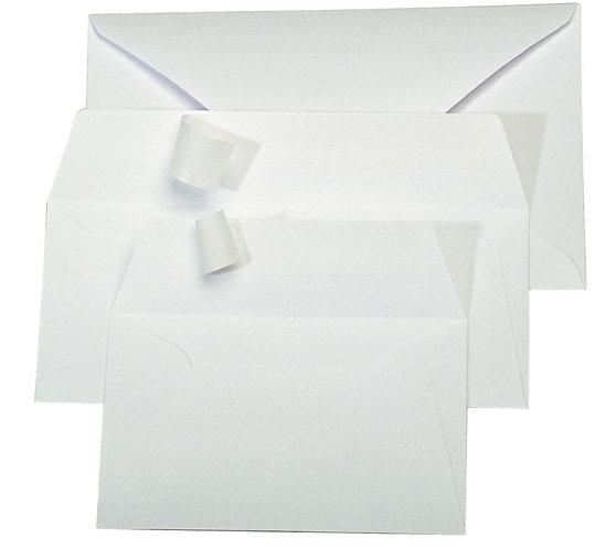 Paquet 20 enveloppes Pollen Clairefontaine format 110x220mm 120g blanc