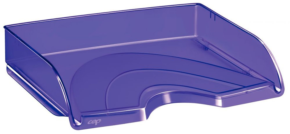 Corbeille à courrier à l'italienne transparent violet