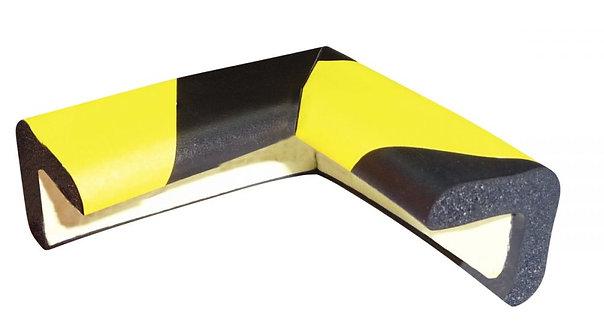 Protection coin noir et jaune