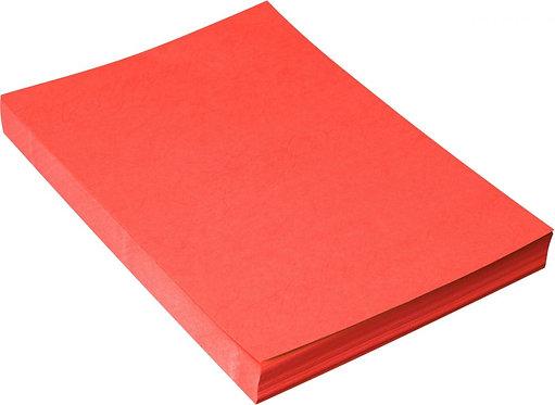Paquet de 100 couvertures grain cuir brillant rouge