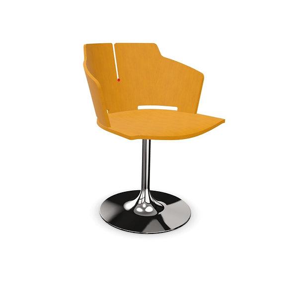 Chaise AGATHE - Piétement platine