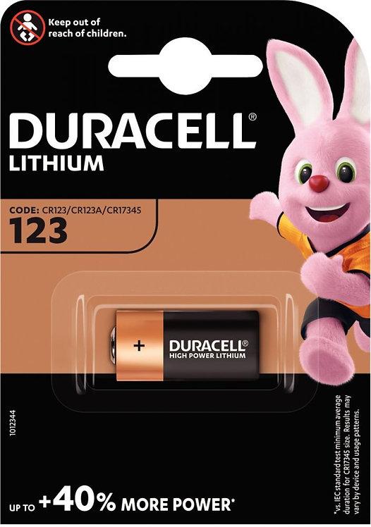 Blister 1 pile lithium 3 volts 123
