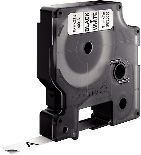 Ruban cassette Dymo 9 mm x 7 m noir et  blanc