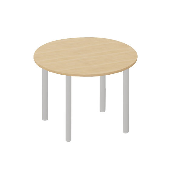 Table ronde Easy ø 120 cm - Piétement Gris aluminium