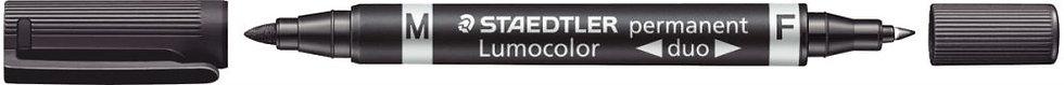 Marqueur permanent Lumocolor duo noir