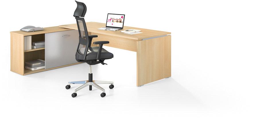 Table de bureau rectangulaire avec meuble porteur HAFUR