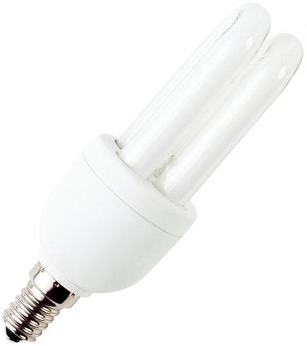 Ampoule fluo 9W E14 forme 2U