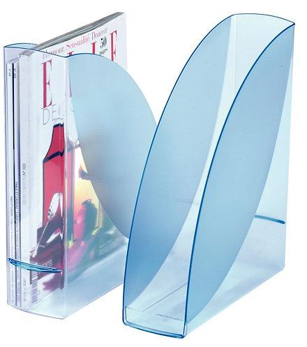 Porte-revues Ice blue transparent