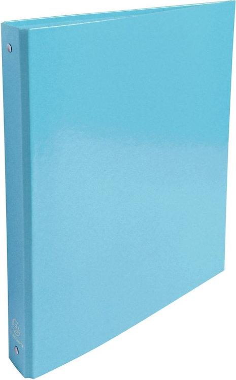 Classeur 4 anneaux ronds ø30 mm en carte pelliculée format A4 coloris bleu clair