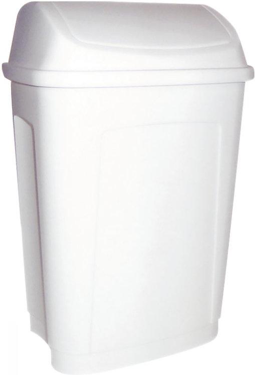 Poubelle plastique couvercle basculant 10 litres