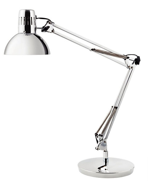 Lampe LED architecte chrome