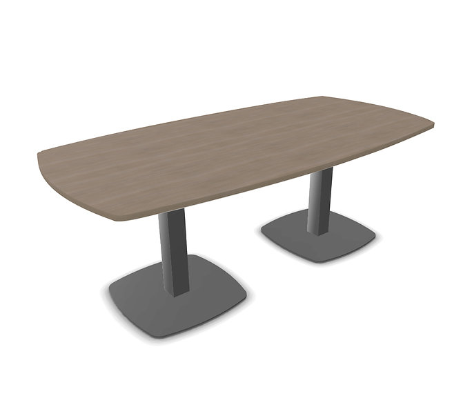 Table tonneau Meeting - Pied tulipe Gris anthracite