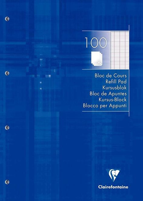 Bloc de cours 200 pages perforées A4 90g séyès