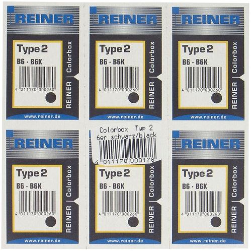 Blister 6 cassettes encrées noires RET2 pour appareil B6/B6K