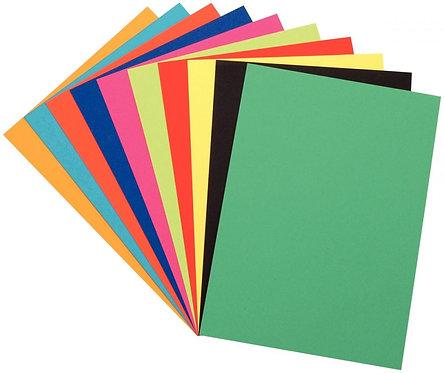 Paquet de 250 feuilles à dessin de couleurs 35X50 250G