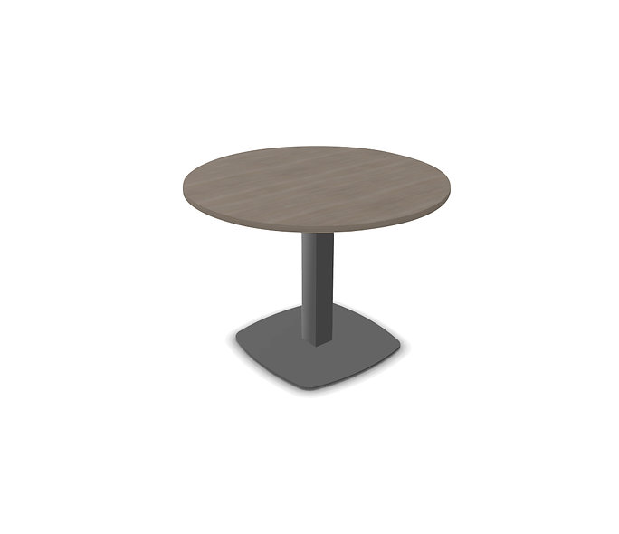 Table ronde Meeting - Pied tulipe Gris anthracite