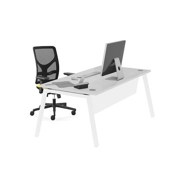 Table de bureau Porto - Piétement blanc