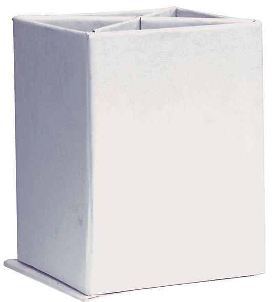 Lot de 10 pots à crayons en carton blanc