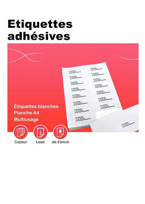 Boîte 100 planches étiquettes adresse multi-usages 199.6x289.1mm. Coin rond