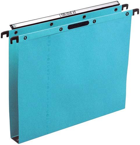 Paquet de 25 dossiers suspendus pour tiroir Velcro Ultimate H fond 30 mm bleu