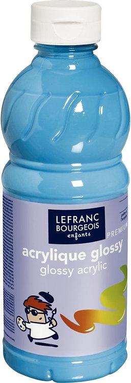 Flacon 500 ml peinture acrylique brillante Glossy Lefranc & Bourgeois Turquoise