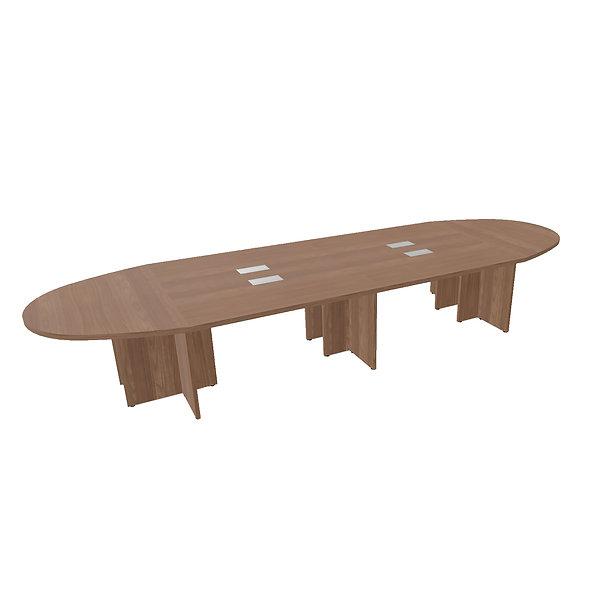 Table ovale Woodwork - Piétement panneaux - Capacité 14 personnes