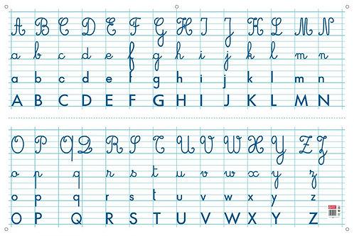 Panneau alphabet effaçable à sec 80x120cm