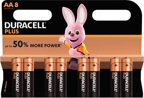 Blister de 8 piles 1.5 volts Alcaline LR06 PLUS à la marque DURACELL