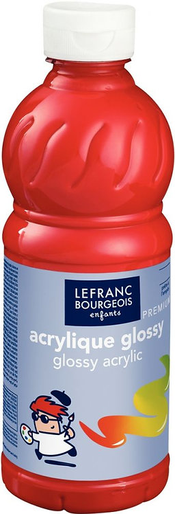 Flacon 500 ml de peinture acrylique brillante Glossy Lefranc & Bourgeois Rouge