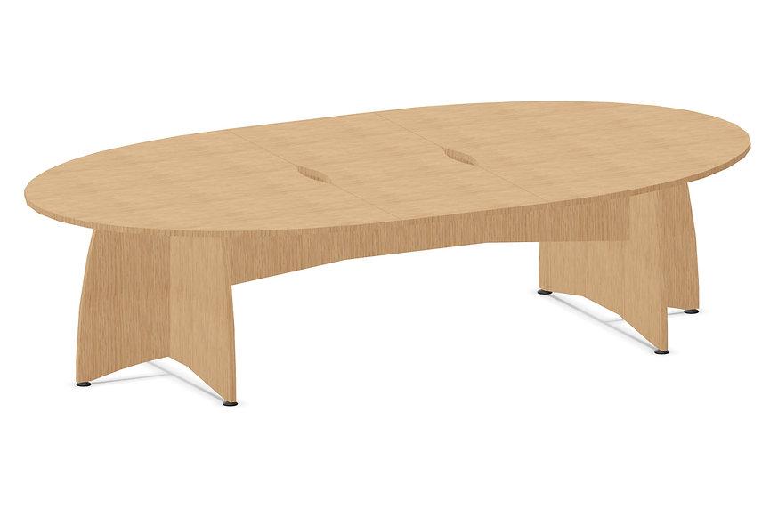 Table elliptique DOUBBY - Pied plein - L. 300 cm