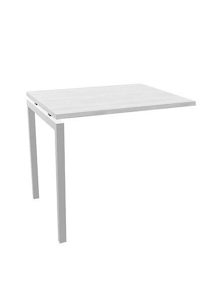 Retour pour table de bureau Idesk - Piétement Gris aluminium