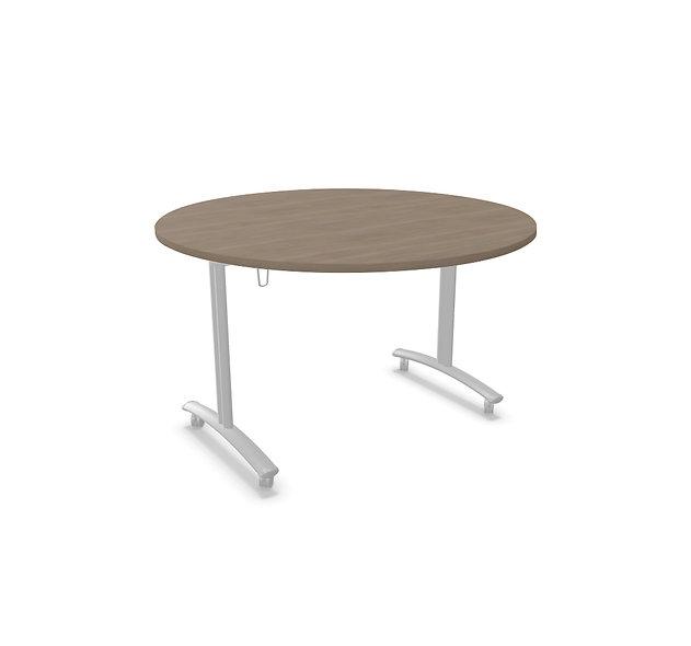 Table ronde basculante Athena - Piétement Gris aluminium