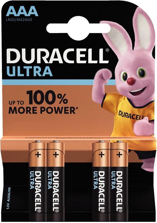Blister 4 Piles 1.5V LR03 Alcaline DURACELL à la marque ULTRA