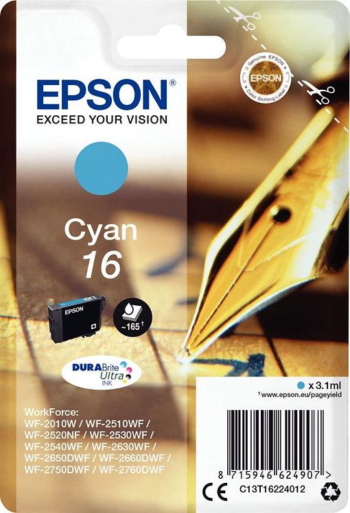 Cartouche jet d'encre à la marque Epson T162240 cyan