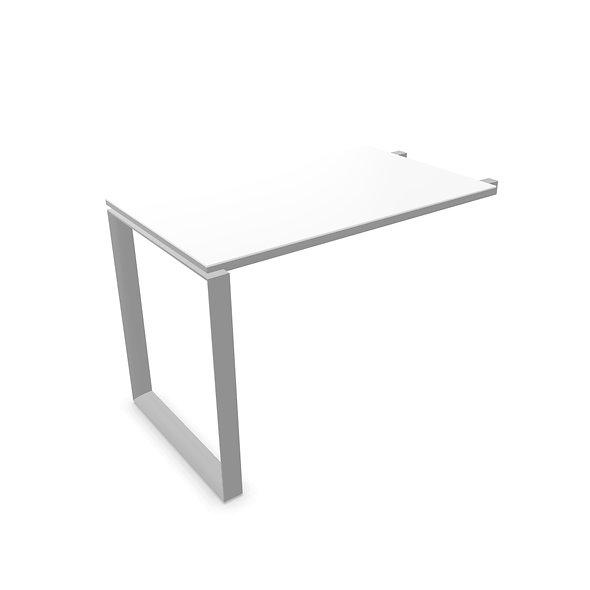 Retour pour Table de bureau WEST - Piétement Gris aluminium