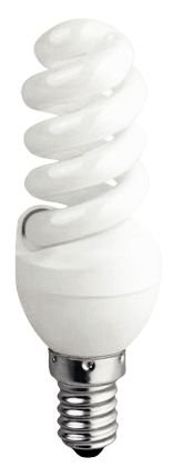 Ampoule fluo à économie d'énergie 9W E14