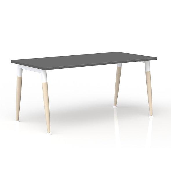 Table de bureau rectangulaire - Arche métallique Blanc