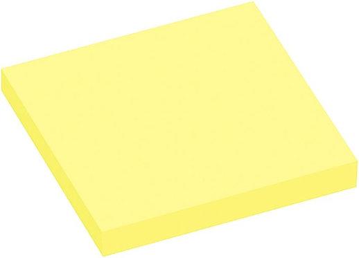 Lot de 12 blocs de 100 feuilles de notes repositionnables 7,5x7,5cm jaune