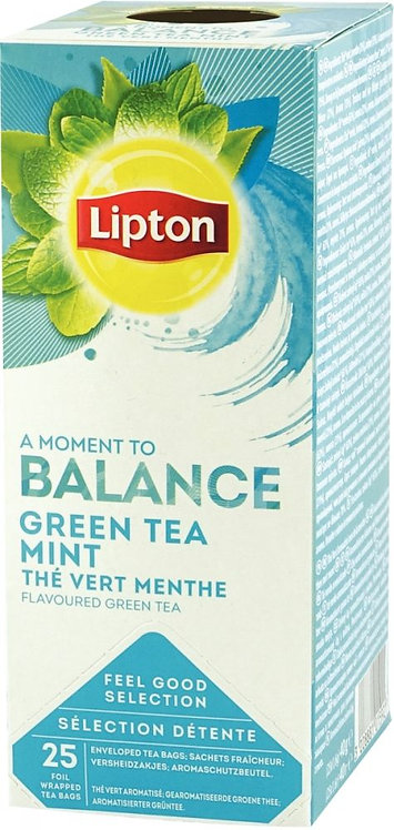 Boite 25 sachets de thé Lipton vert menthe