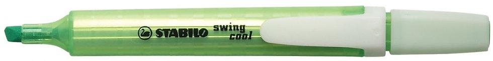 Surligneur SWING pointe large biseautée, encre fluorescente. Vert
