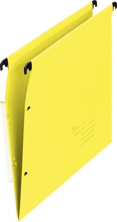 Paquet de 25 dossiers suspendus pour armoire, dos 15 mm, coloris jaune