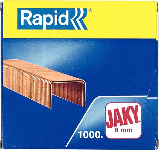 Boîte de 1 000 agrafes Jaky 6 cuivrée