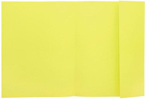Paquet de 100 chemises 1 rabat 160g 24x32 cm jaune canari