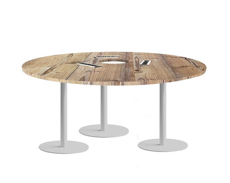 Table ronde JAROD - Capacité 6 à 8 personnes - Piétement Gris aluminium
