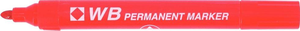 Marqueur permanent WB pointe ogive rouge