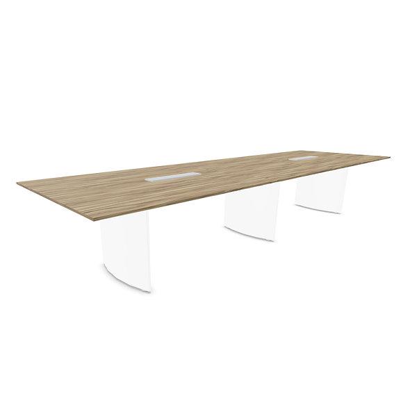 Table de conférence CEO L. 400 cm - Piétement Blanc