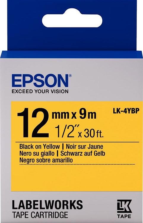 Recharge Epson LK 12mmx9m noir/jaune